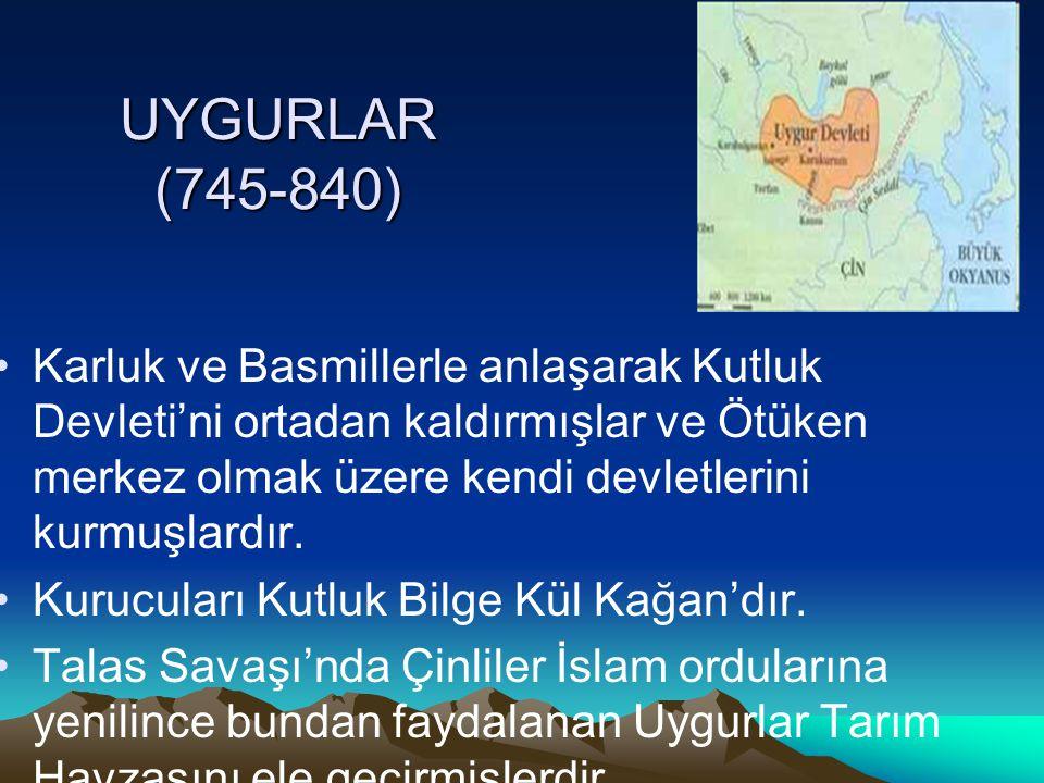 UYGURLAR (745-840)