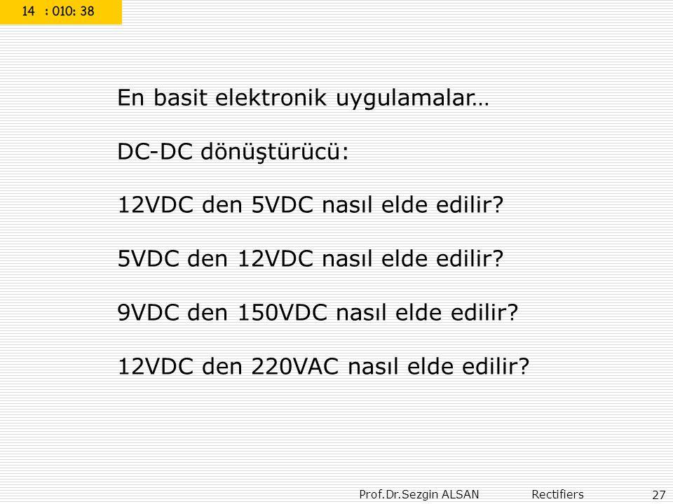 En basit elektronik uygulamalar… DC-DC dönüştürücü: