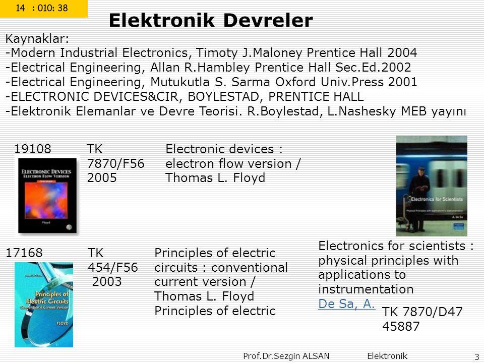 Elektronik Devreler Kaynaklar: