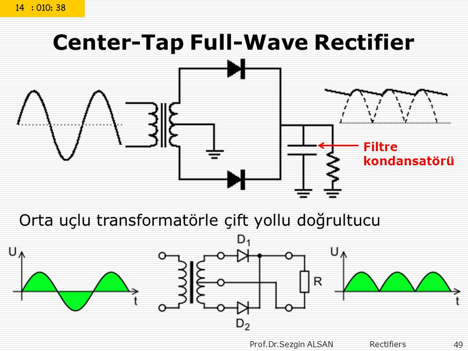 Center-Tap Full-Wave Rectifier
