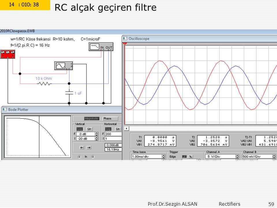 RC alçak geçiren filtre