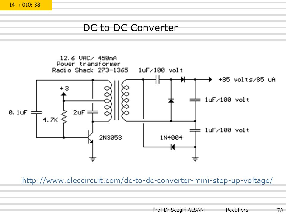 DC to DC Converter http://www.eleccircuit.com/dc-to-dc-converter-mini-step-up-voltage/ 73