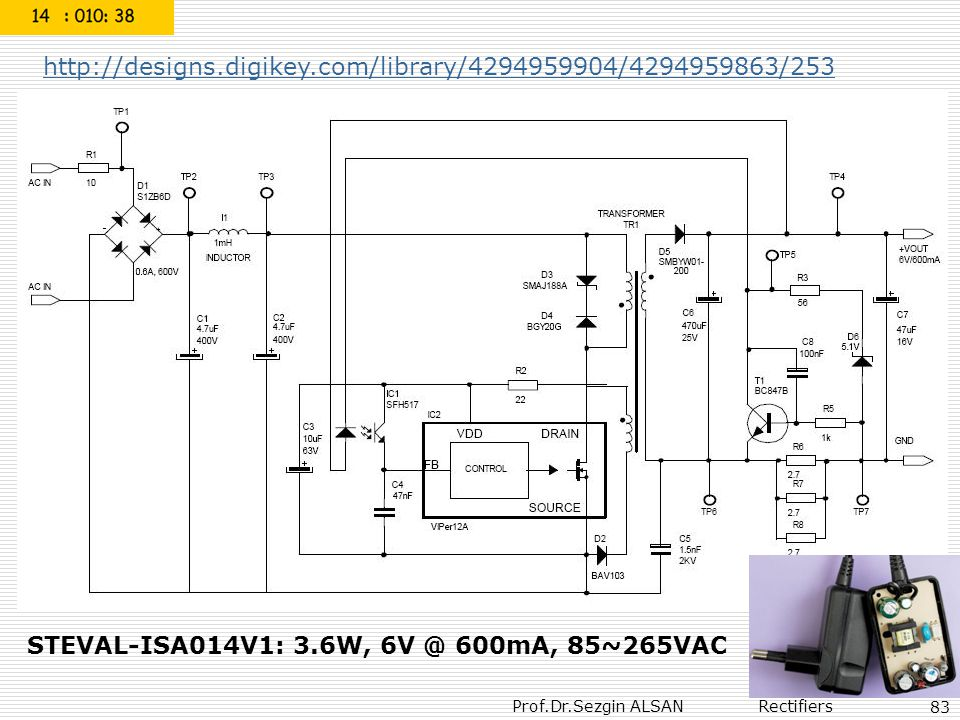 STEVAL-ISA014V1: 3.6W, 6V @ 600mA, 85~265VAC