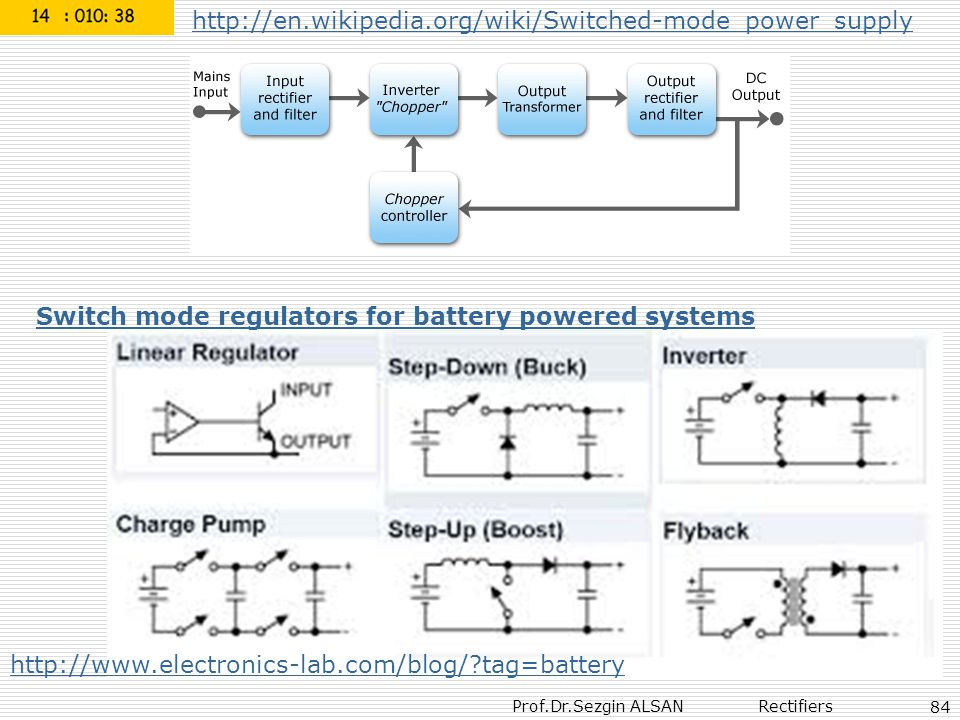 http://en.wikipedia.org/wiki/Switched-mode_power_supply Switch mode regulators for battery powered systems.