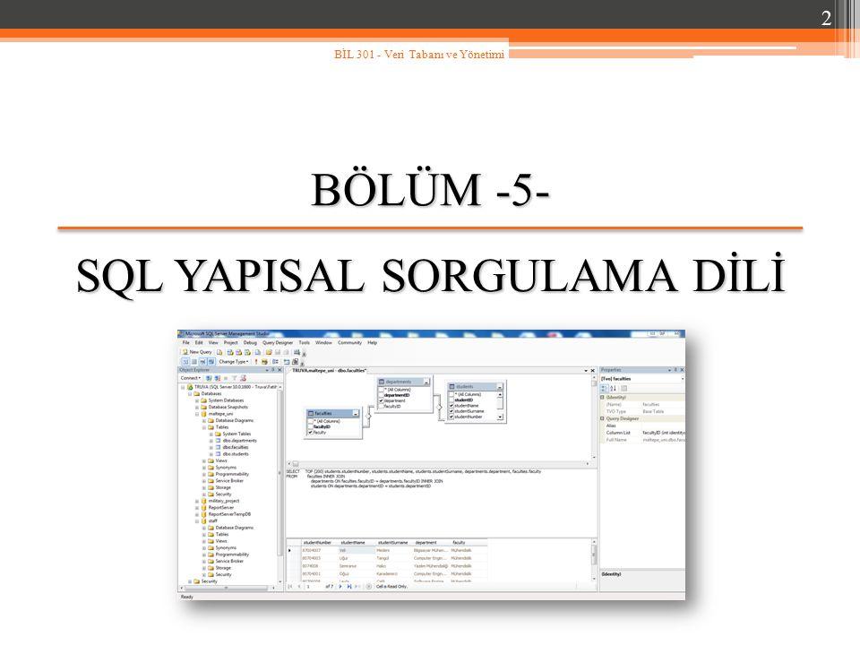 SQL YAPISAL SORGULAMA DİLİ
