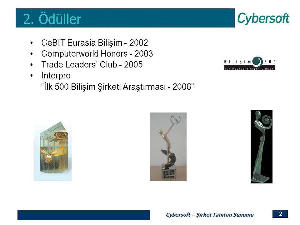 2. Ödüller CeBIT Eurasia Bilişim - 2002 Computerworld Honors - 2003