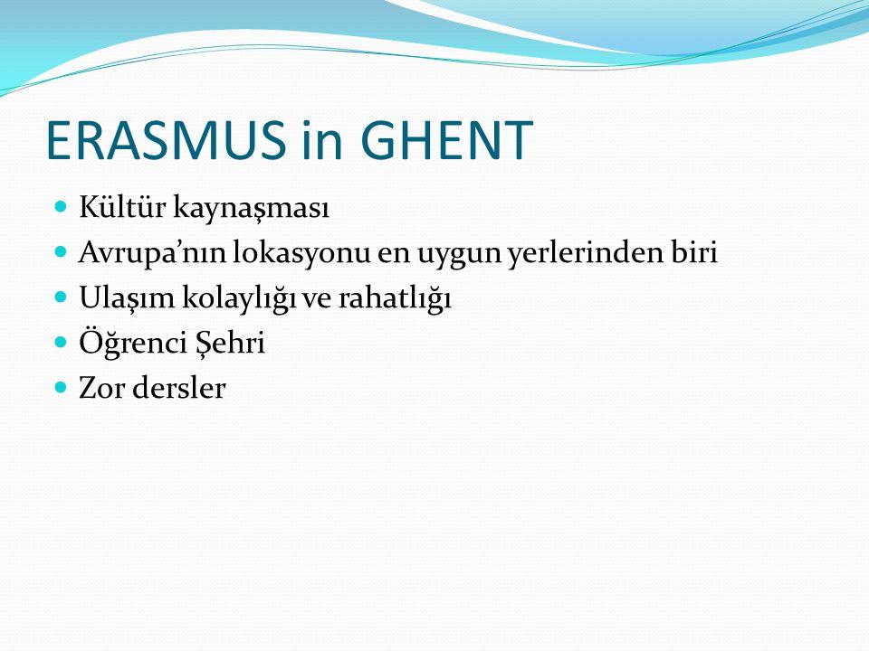 ERASMUS in GHENT Kültür kaynaşması
