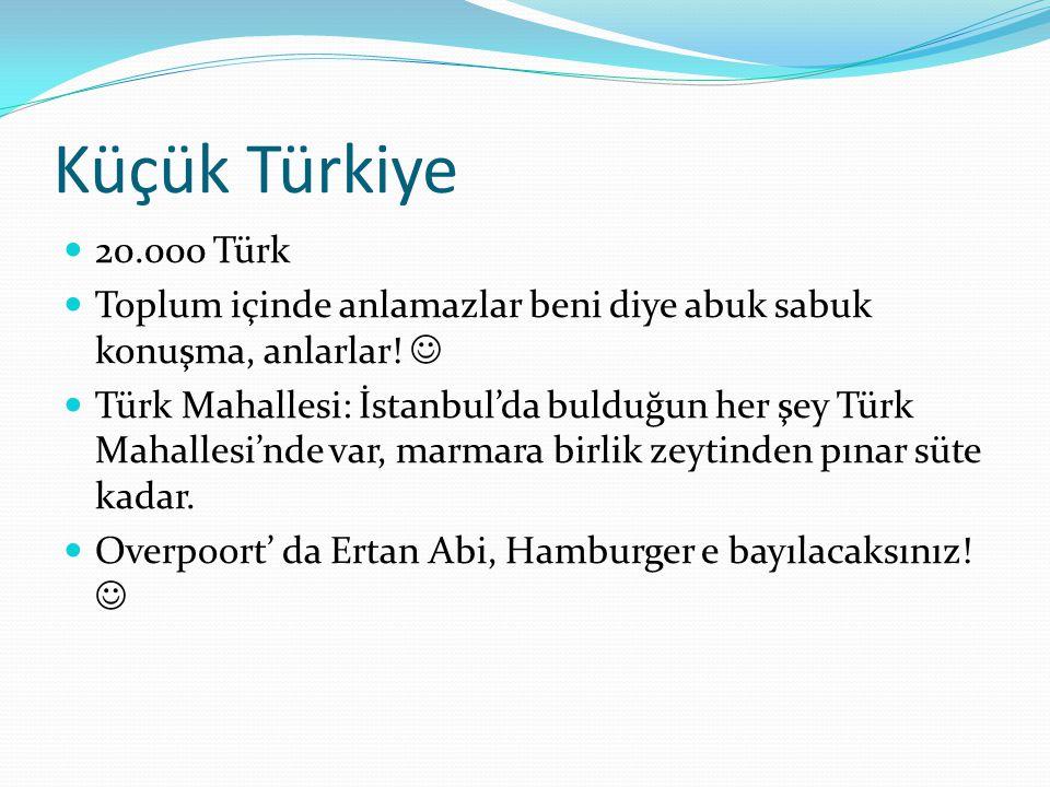 Küçük Türkiye 20.000 Türk. Toplum içinde anlamazlar beni diye abuk sabuk konuşma, anlarlar! 