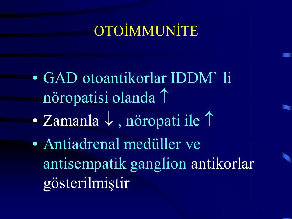 GAD otoantikorlar IDDM` li nöropatisi olanda 