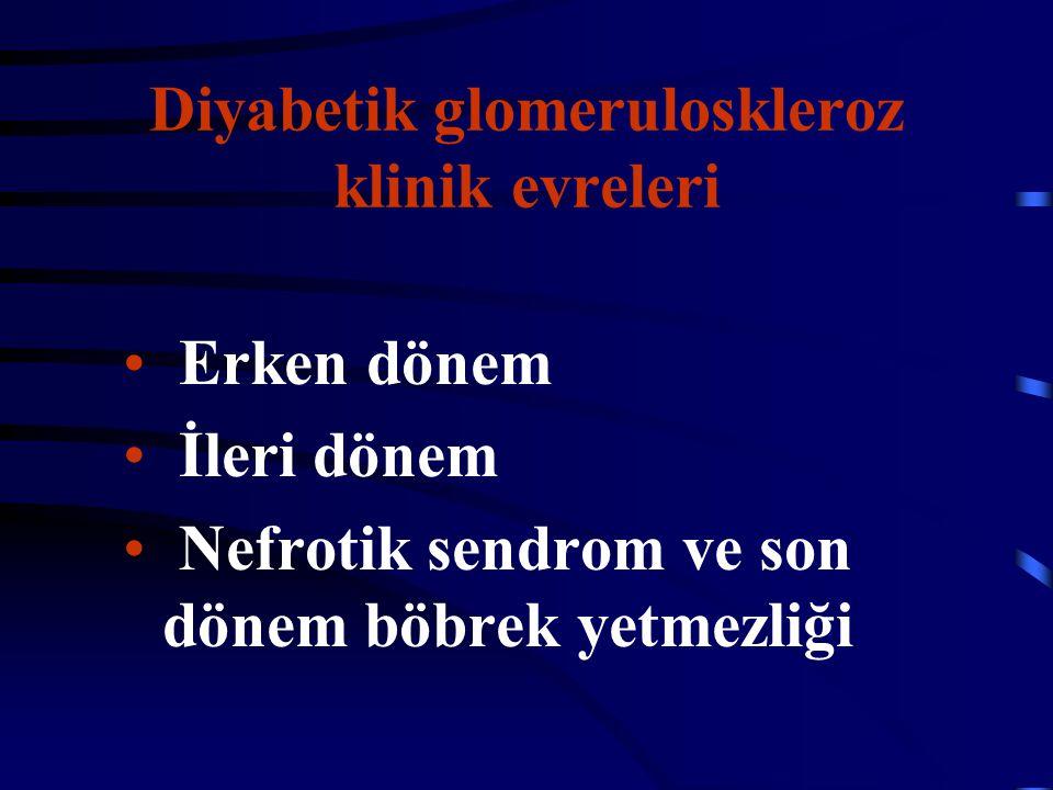 Diyabetik glomeruloskleroz klinik evreleri