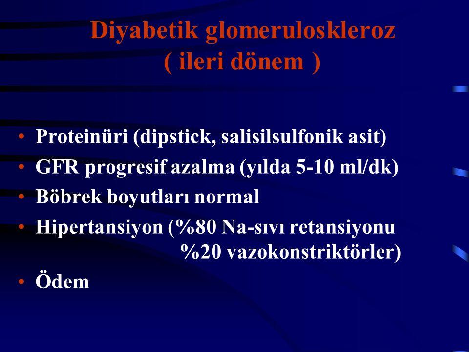 Diyabetik glomeruloskleroz ( ileri dönem )
