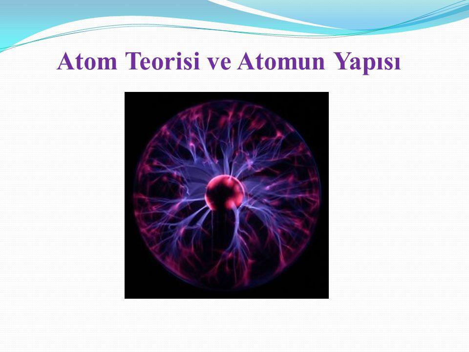 Atom Teorisi ve Atomun Yapısı