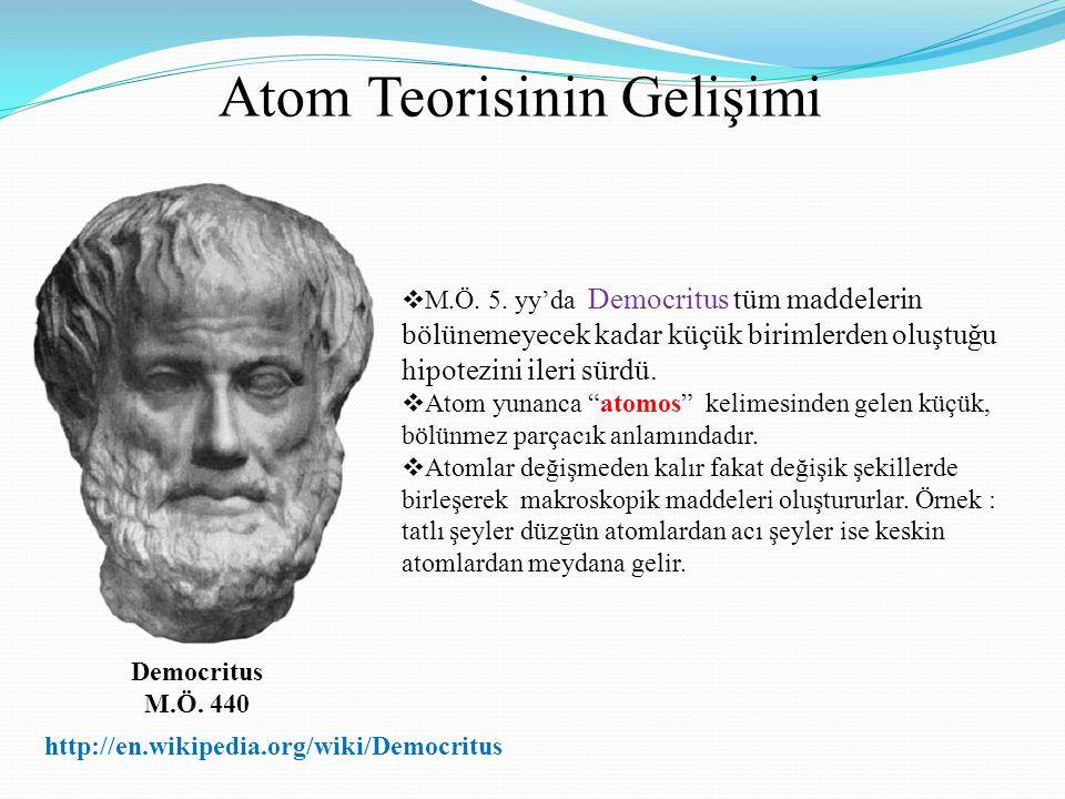 Atom Teorisinin Gelişimi
