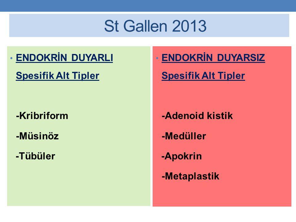 St Gallen 2013 ENDOKRİN DUYARLI Spesifik Alt Tipler -Kribriform