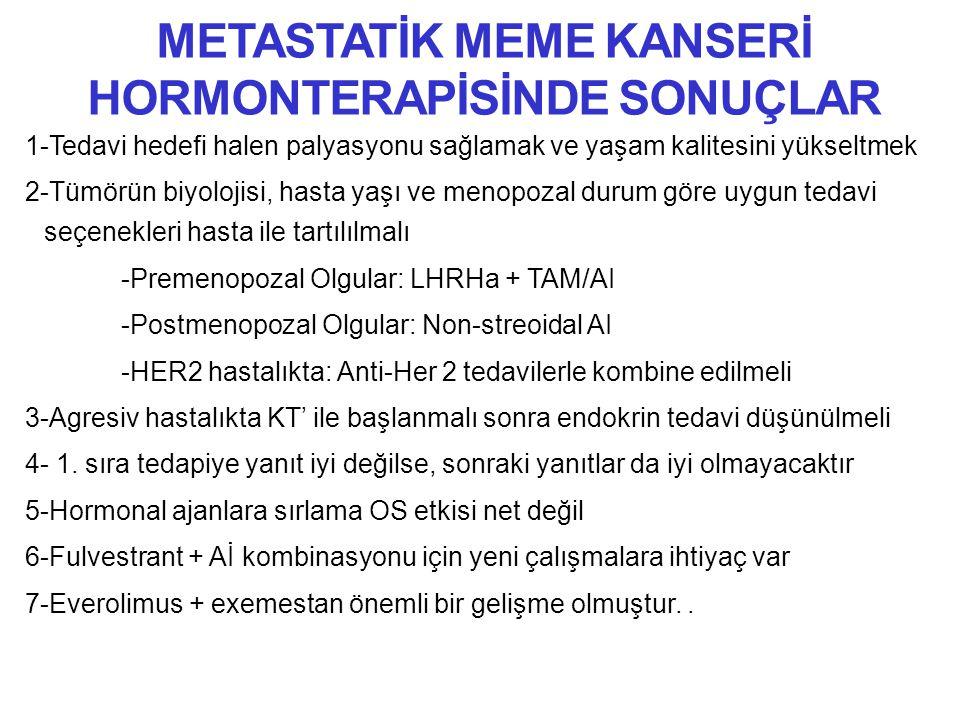 METASTATİK MEME KANSERİ HORMONTERAPİSİNDE SONUÇLAR
