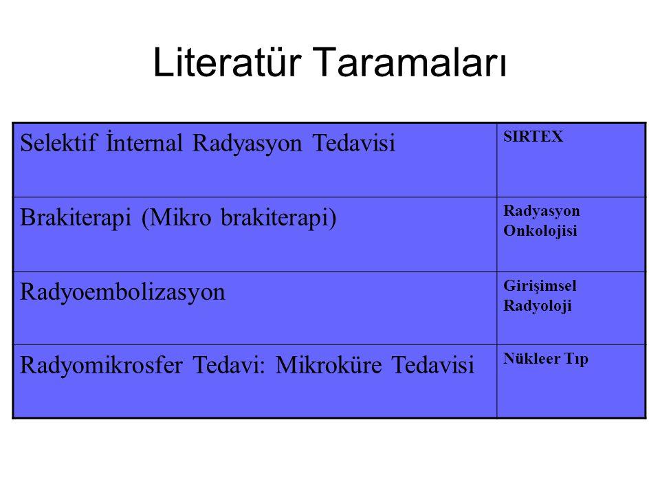 Literatür Taramaları Selektif İnternal Radyasyon Tedavisi