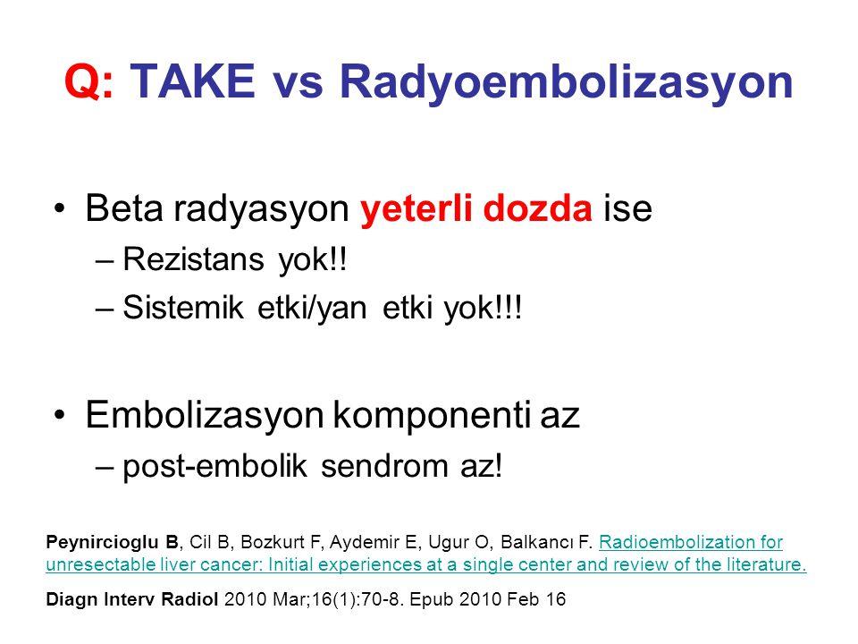 Q: TAKE vs Radyoembolizasyon