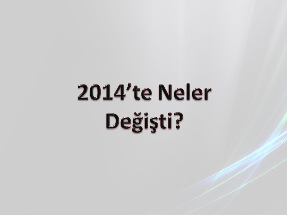 2014'te Neler Değişti