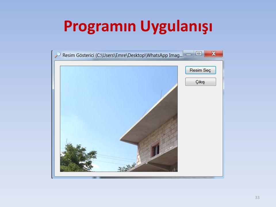 Programın Uygulanışı