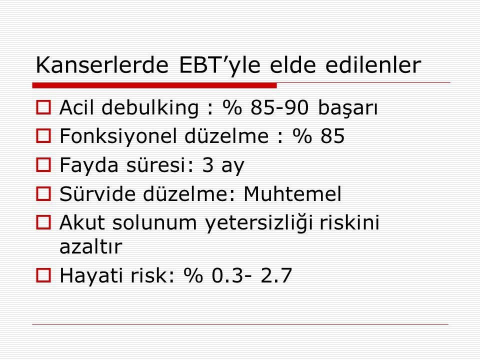 Kanserlerde EBT'yle elde edilenler
