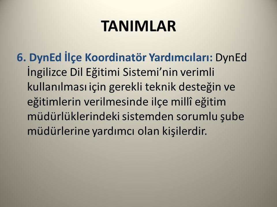 TANIMLAR