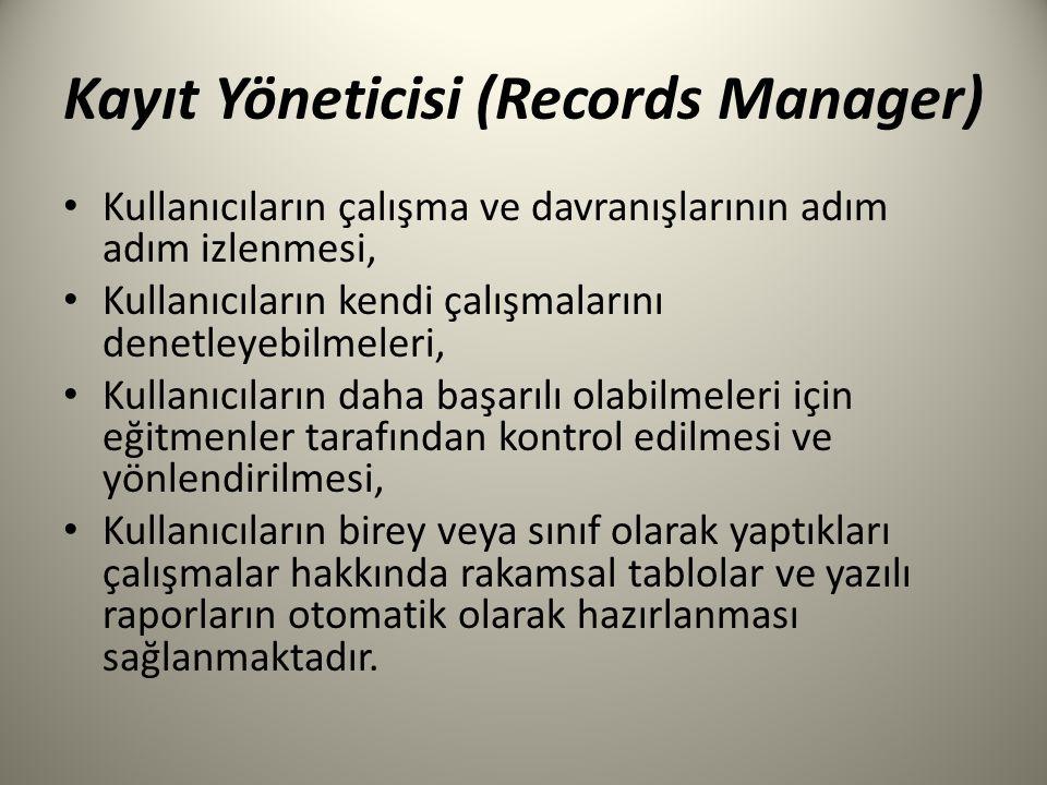 Kayıt Yöneticisi (Records Manager)