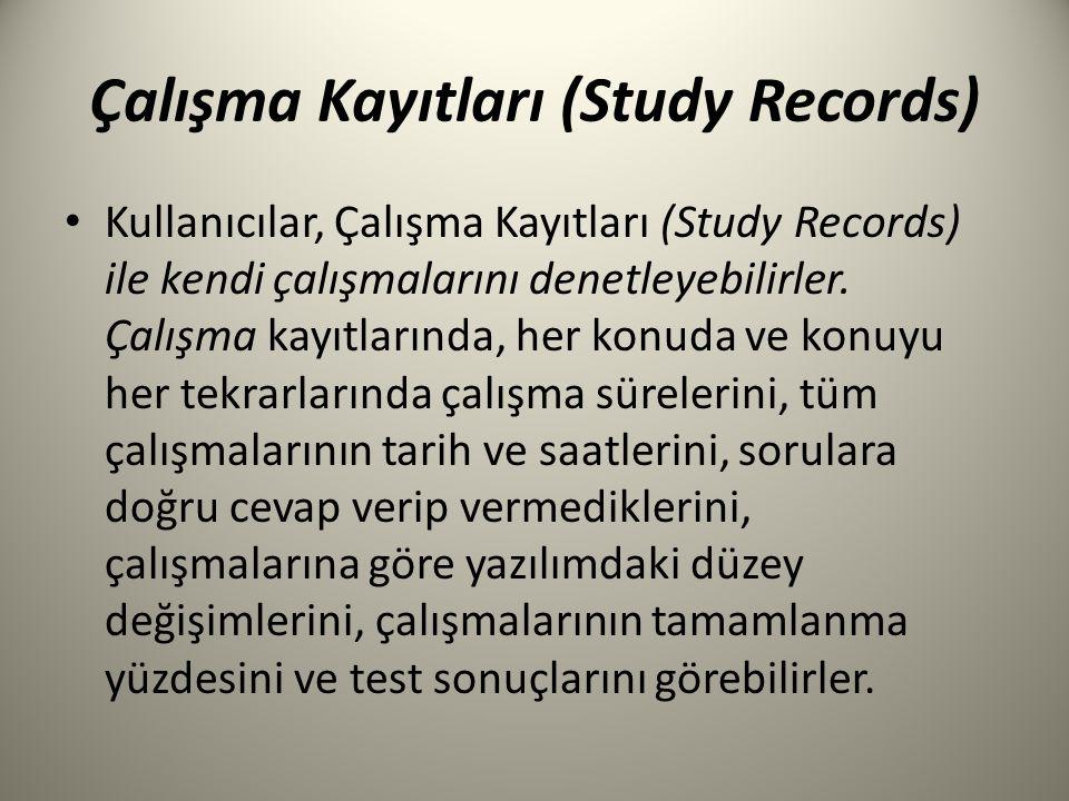 Çalışma Kayıtları (Study Records)