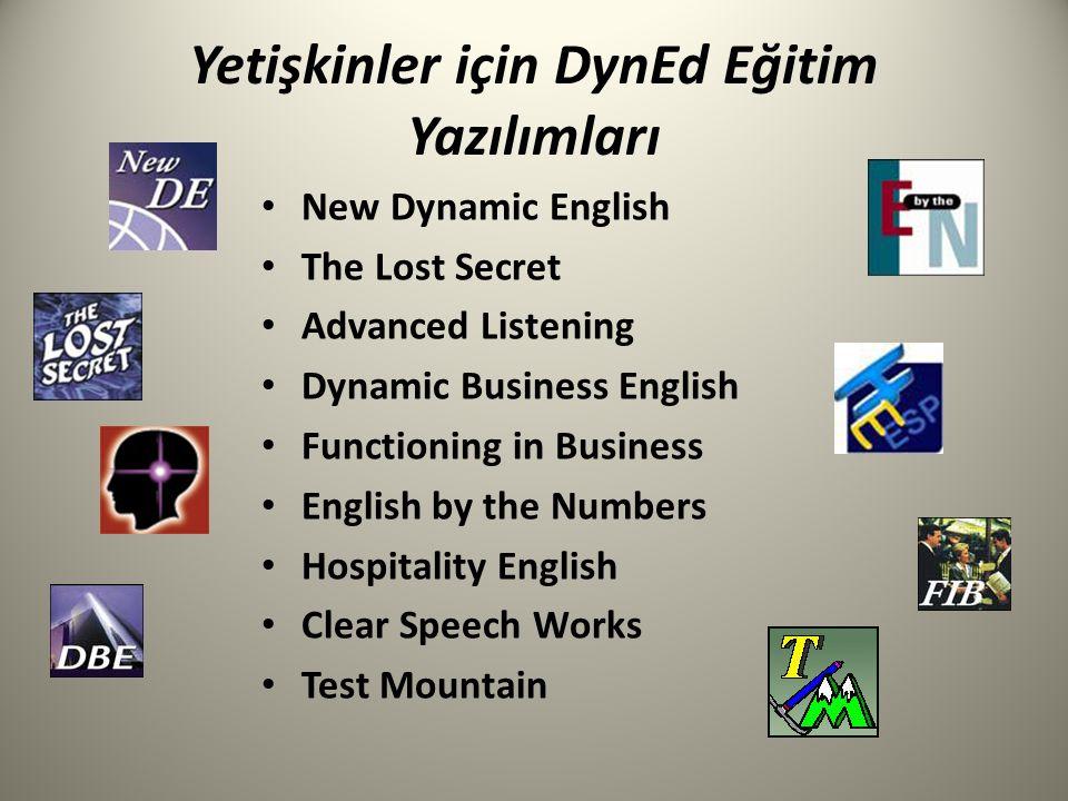 Yetişkinler için DynEd Eğitim Yazılımları