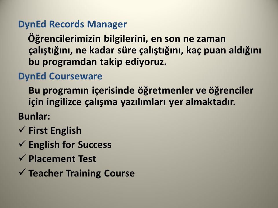 DynEd Records Manager