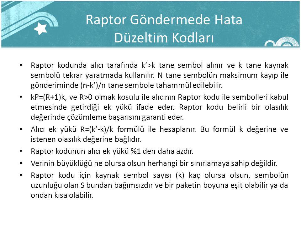 Raptor Göndermede Hata Düzeltim Kodları