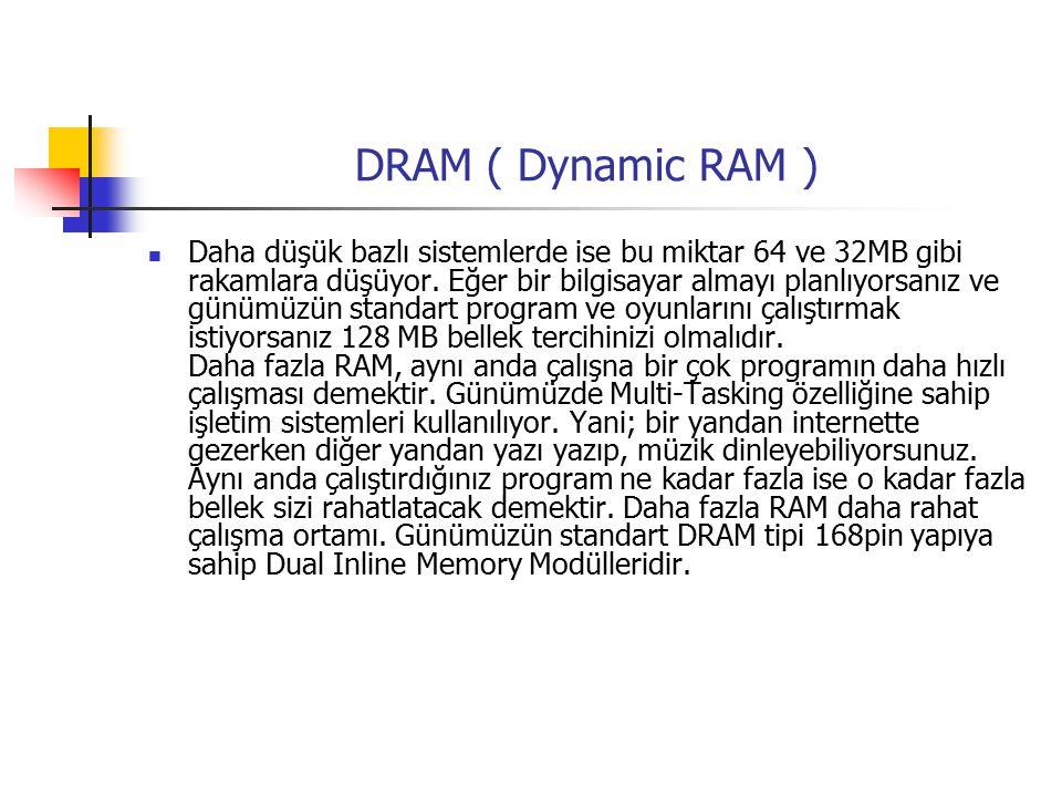 DRAM ( Dynamic RAM )