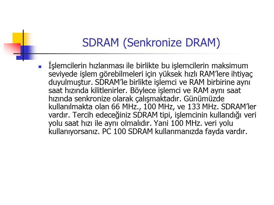 SDRAM (Senkronize DRAM)