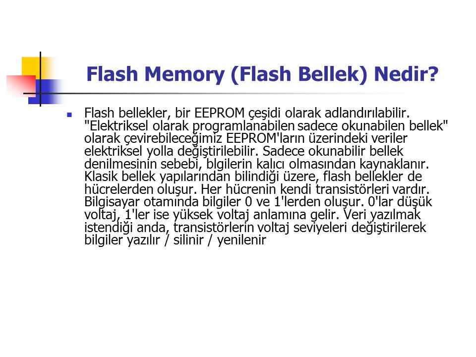 Flash Memory (Flash Bellek) Nedir