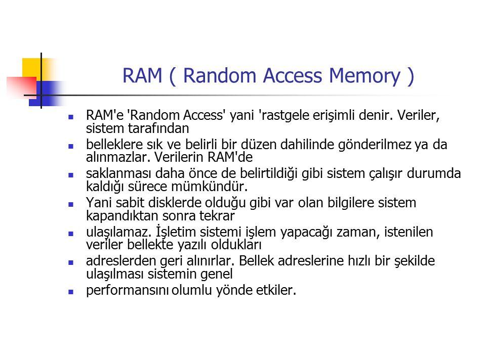 RAM ( Random Access Memory )