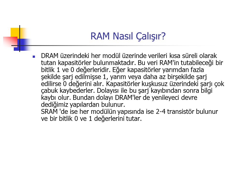 RAM Nasıl Çalışır
