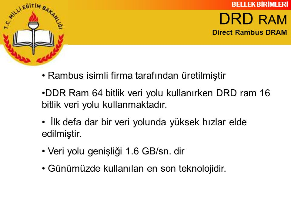 DRD RAM Direct Rambus DRAM