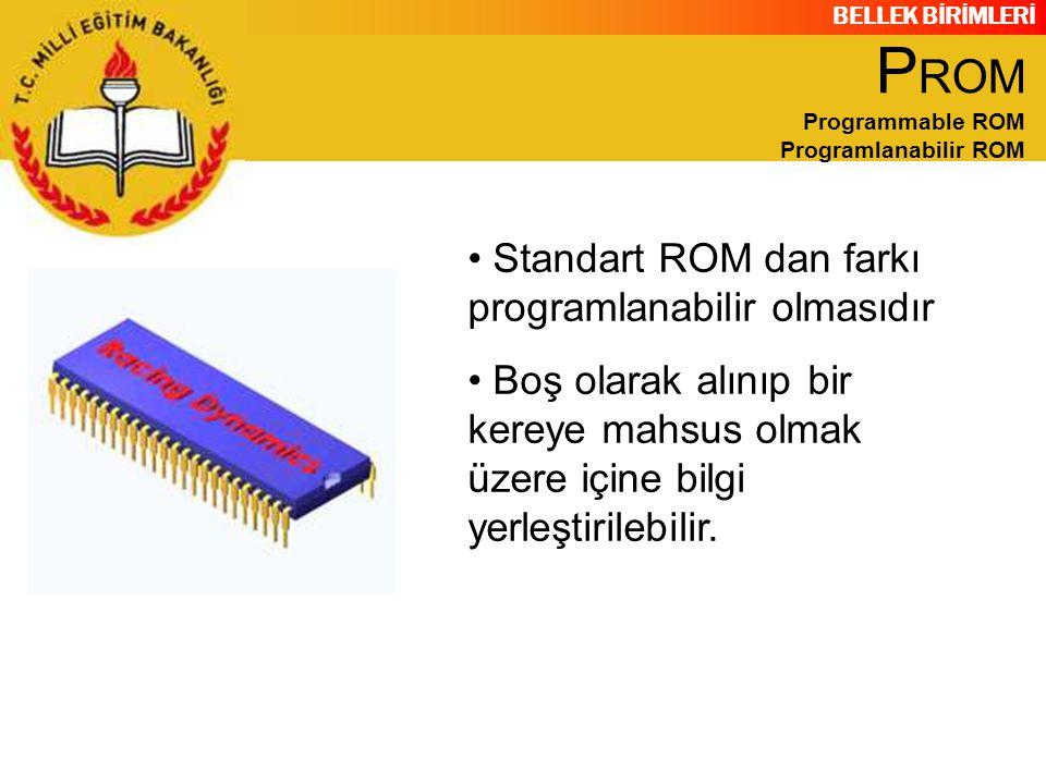 PROM Programmable ROM Programlanabilir ROM