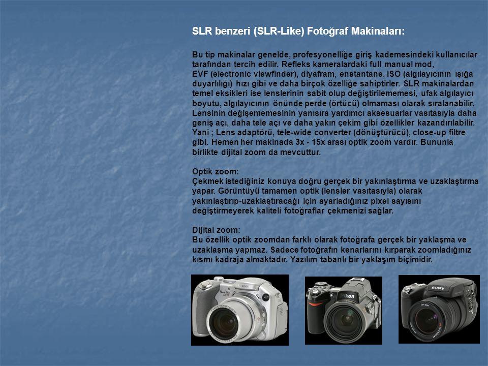 SLR benzeri (SLR-Like) Fotoğraf Makinaları: