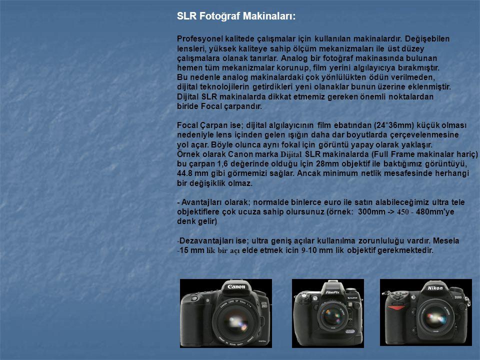 SLR Fotoğraf Makinaları: