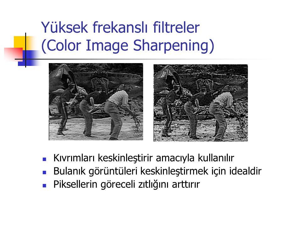 Yüksek frekanslı filtreler (Color Image Sharpening)