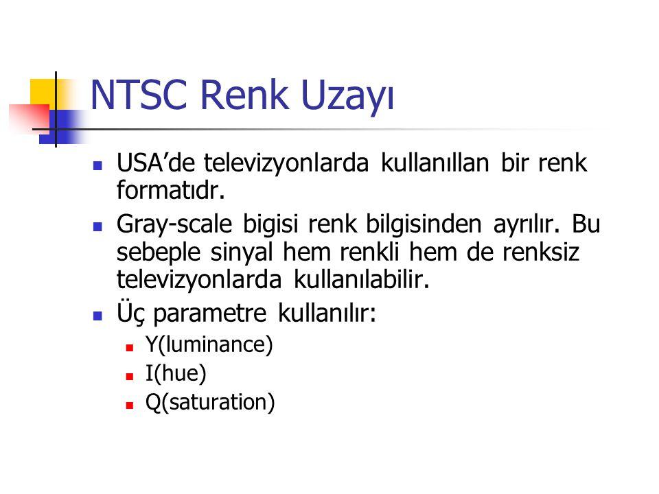 NTSC Renk Uzayı USA'de televizyonlarda kullanıllan bir renk formatıdr.