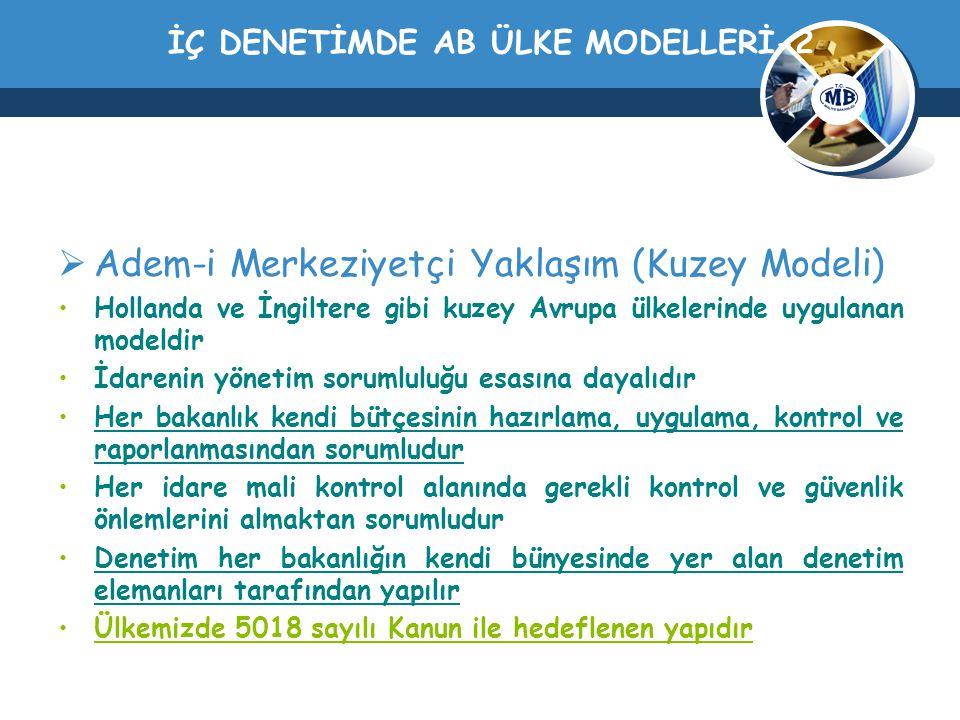 İÇ DENETİMDE AB ÜLKE MODELLERİ-2
