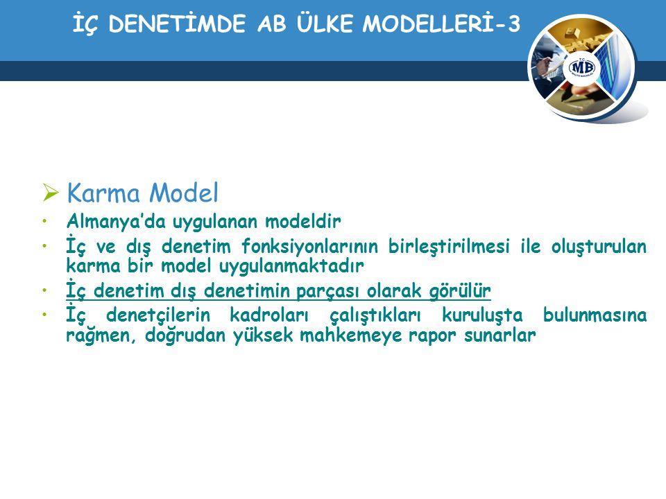 İÇ DENETİMDE AB ÜLKE MODELLERİ-3