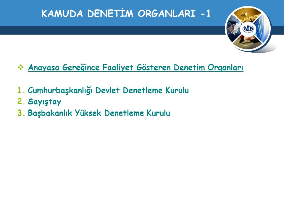 KAMUDA DENETİM ORGANLARI -1