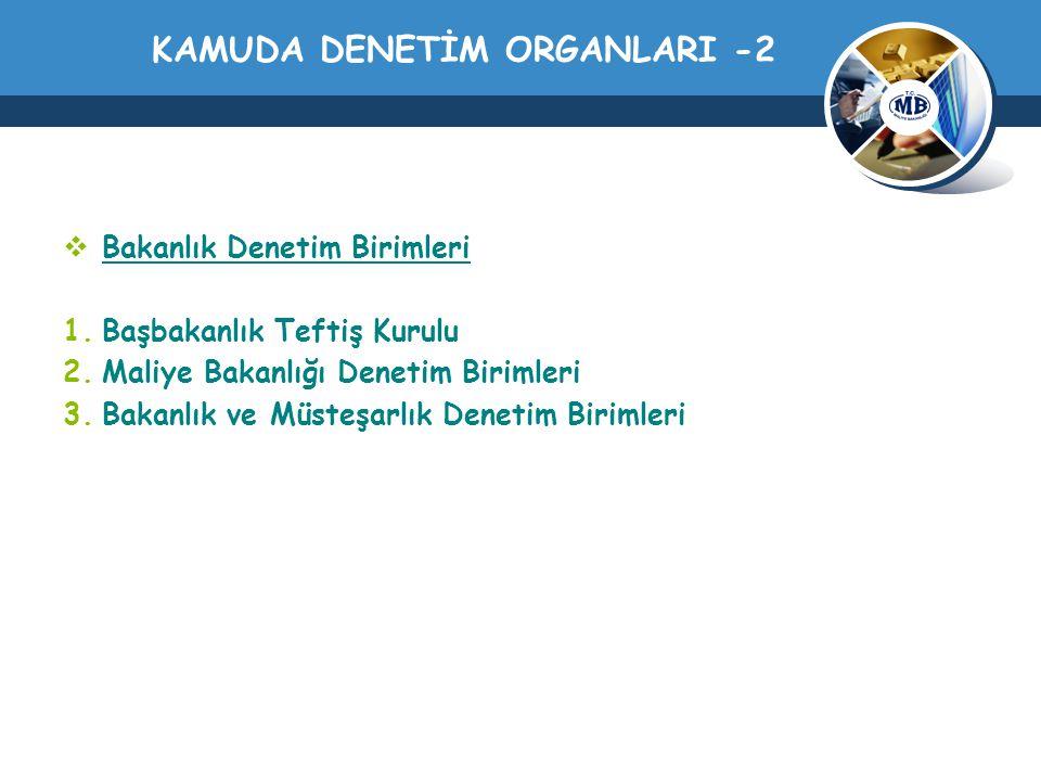 KAMUDA DENETİM ORGANLARI -2