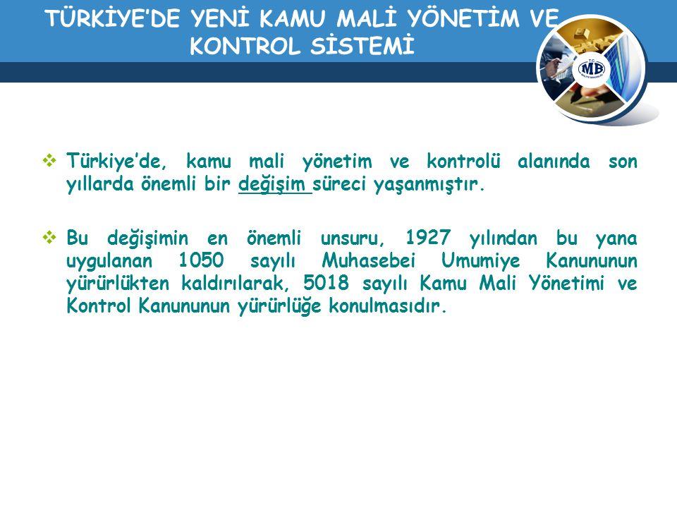 TÜRKİYE'DE YENİ KAMU MALİ YÖNETİM VE KONTROL SİSTEMİ