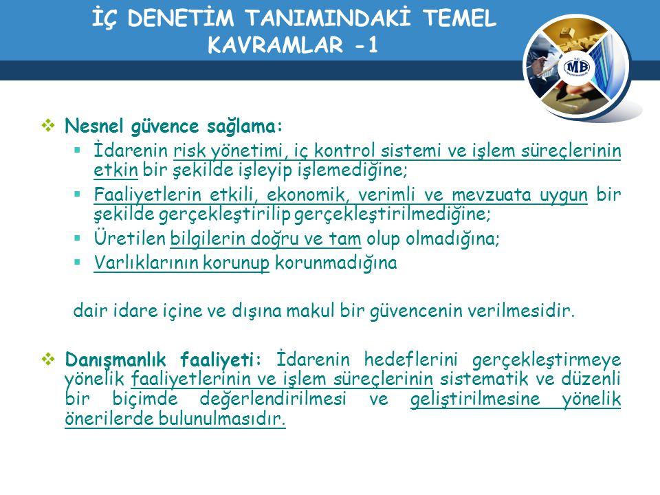 İÇ DENETİM TANIMINDAKİ TEMEL KAVRAMLAR -1