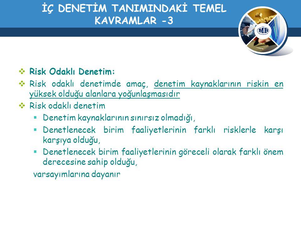 İÇ DENETİM TANIMINDAKİ TEMEL KAVRAMLAR -3