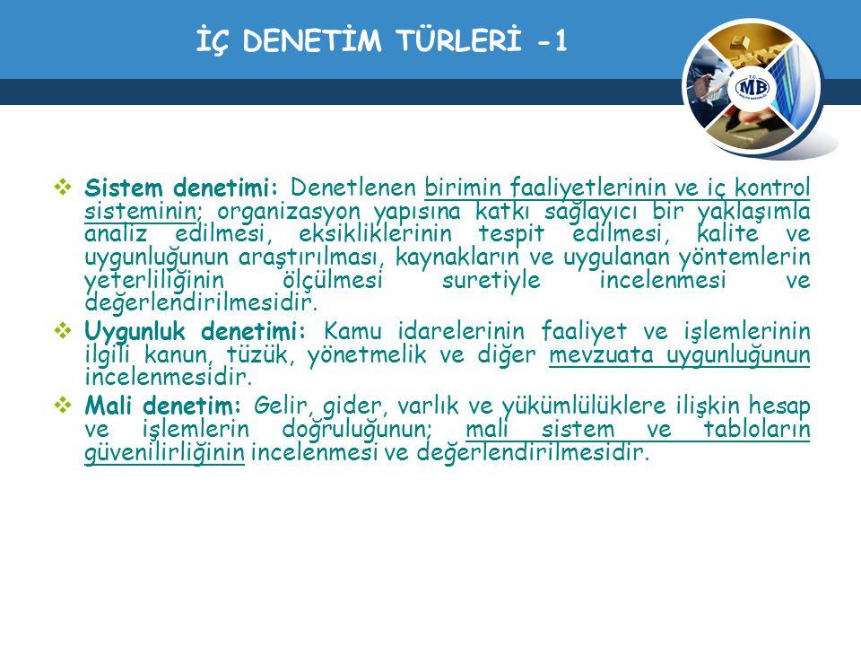 İÇ DENETİM TÜRLERİ -1