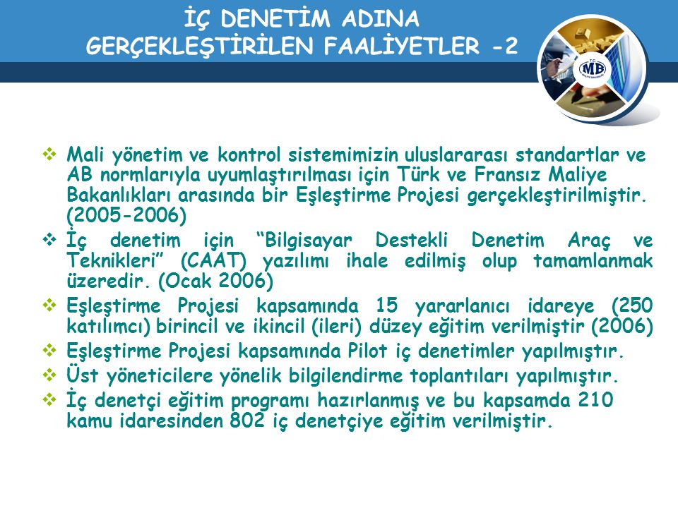İÇ DENETİM ADINA GERÇEKLEŞTİRİLEN FAALİYETLER -2